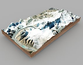 3D model Mountain landscape Kazbek mountains