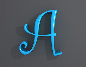 Letters alphabet cartoon 3D model