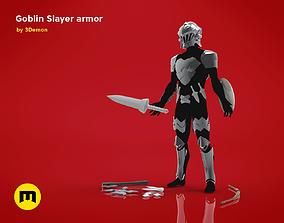 3D model Goblin Slayer Armor Weapons and Helmet