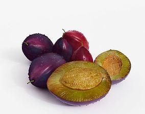 Fresh Purple Plums 3D model