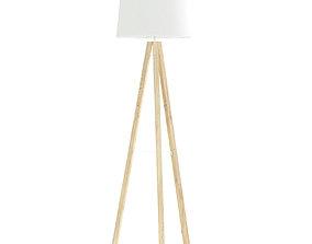 Wooden Floor Lamp 3D Model