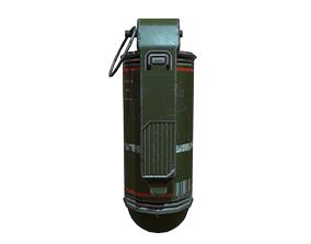 Low Poly Flash Grenade 3D asset