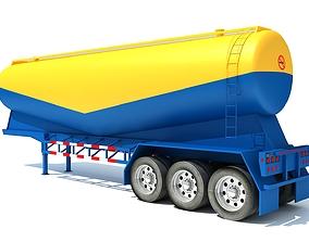 3D model Tanker Trailer