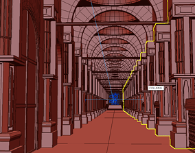 3D model Colonial Type Hallway
