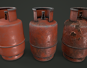3D model Gas Canister 3 Variations GameReady