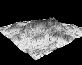 Sculpted Mountain 3D asset