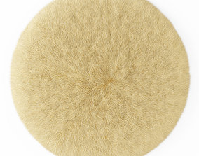 3D model Round rug yellow