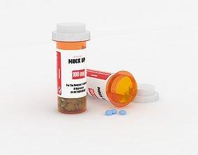 3D Medicine Bottle Mock Up science