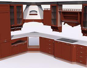 3D model Modern kitchen furniture