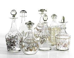 3D Vintage Bottle Set