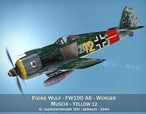 3D Focke Wulf - FW190 A8 - Yellow 12