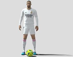 3D asset Eden Hazard Real Madrid rigged