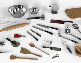Kitchen Utensils Set 3D