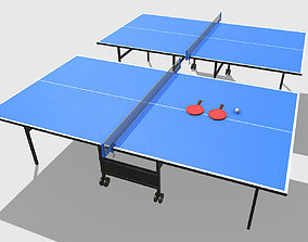 3D asset Low Poly PBR Table Tennis