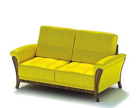 3D model Yellow Modern Couch
