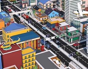 3D asset Low Poly City Pack 3