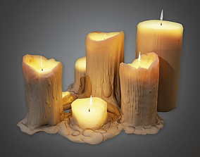 3D model Cemetery Candles 2 CEM - PBR Game Ready