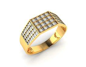 diamond-ring Men groom solitaire ring 3dm render detail