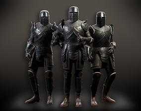 Lowpoly PBR Knight Armour 3D model