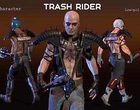 Trash Rider 3D model animated