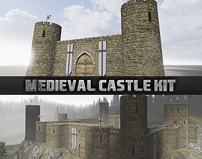 Medieval castle kit 3D asset