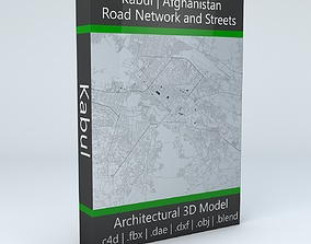 Kabul Road Network and Streets 3D