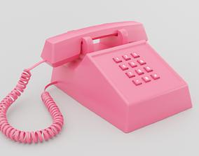 3D model Retro Pink Phone