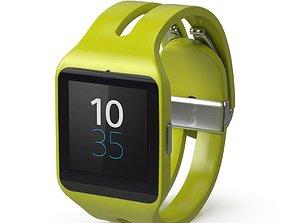 Sony Smart Watch 3 Yellow 3D model