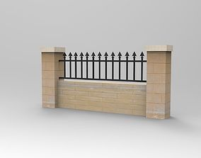 3D printable model fence