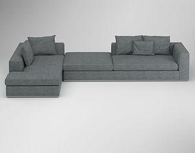 3D Grey Scandinavian Class Sofa