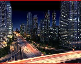 Modern City Animated 002 3D model