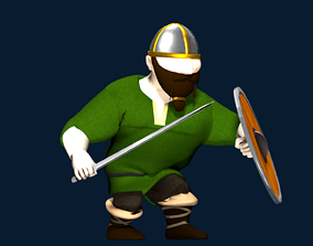3D asset Viking Warrior Low-Poly Character Model FREE MESH