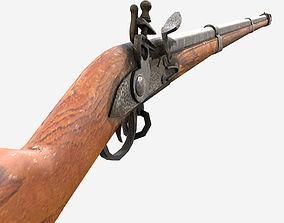 Low Poly PBR Flint Lock Rifle 3D model