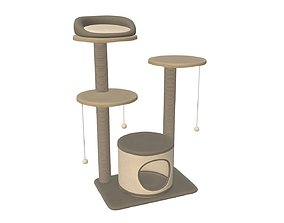 3D model Pet playhouse 03