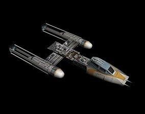 3D model Y-Wing Lowpoly