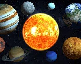 3D model Planets solar system