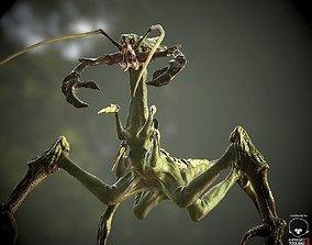 Alien Lizard Crab Game Model rigged