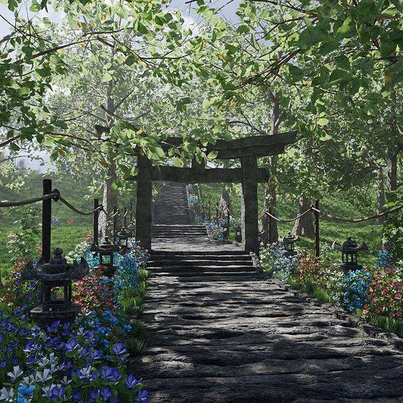 Path to Shrine Scene