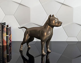 figure pit bull 3D printable model
