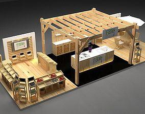 modern 3D model Farm Booth exhibition