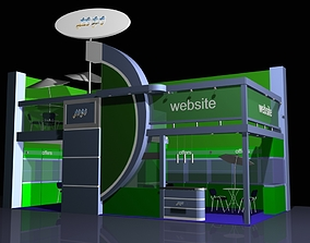 Industrial Stand 02 architecture 3D