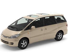 3D asset low-poly Toyota Estima