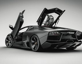 3D model animated Lamborgini Aventador