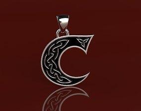 3D print model Letter pendant 3 with celtic pattern