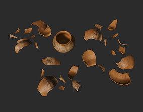 3D model Pottery Shards Set