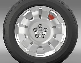 3D model Fiat Doblo Work wheel 2015