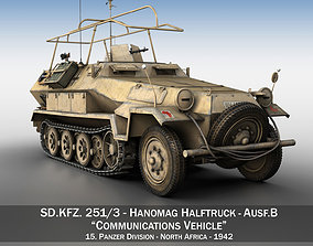 3D SDKFZ 251 3 - Ausf B - Communications Vehicle - 15PD