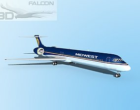 Falcon3D MD-80 Midwest Airlines rigged