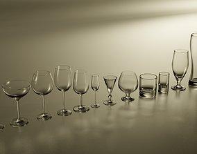 3D Glasses set for alcohol