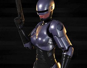 Robocop-Woman 3D model rigged